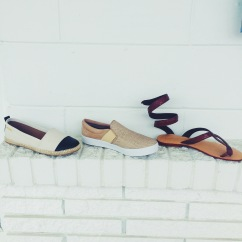 These shoes are so cute and SOSOSOSO cute the ones on the left remind me of Chanel espadrilles. Right!?!?!